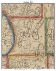 Bingham, Maine 1860 Old Town Map Custom Print - Somerset Co.