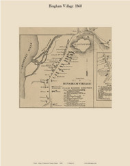 Bingham Village, Maine 1860 Old Town Map Custom Print - Somerset Co.