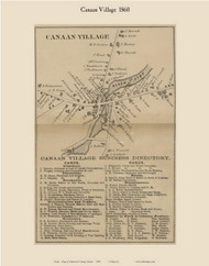 Canaan Village, Maine 1860 Old Town Map Custom Print - Somerset Co.