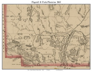 Flagstaff & Forks Plantation, Maine 1860 Old Town Map Custom Print - Somerset Co.