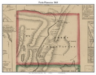 Forks Plantation, Maine 1860 Old Town Map Custom Print - Somerset Co.