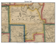 Hartland, Maine 1860 Old Town Map Custom Print - Somerset Co.