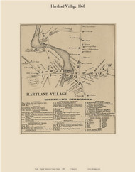 Hartland Village, Maine 1860 Old Town Map Custom Print - Somerset Co.