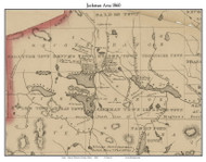 Jackman Area, Maine 1860 Old Town Map Custom Print - Somerset Co.