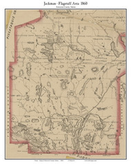 Jackman - Flagstaff Area, Maine 1860 Old Town Map Custom Print - Somerset Co.