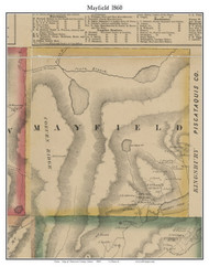 Mayfield, Maine 1860 Old Town Map Custom Print - Somerset Co.