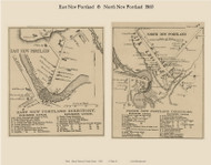 East New Portland & North New Portland, Maine 1860 Old Town Map Custom Print - Somerset Co.
