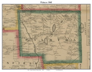 Palmyra, Maine 1860 Old Town Map Custom Print - Somerset Co.