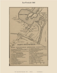 East Pittsfield, Maine 1860 Old Town Map Custom Print - Somerset Co.