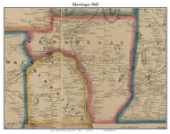 Skowhegan, Maine 1860 Old Town Map Custom Print - Somerset Co.