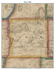 Solon, Maine 1860 Old Town Map Custom Print - Somerset Co.