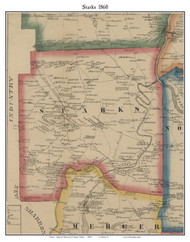 Starks, Maine 1860 Old Town Map Custom Print - Somerset Co.