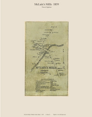 McLain's Mills - Appleton, Maine 1859 Old Town Map Custom Print - Waldo Co.