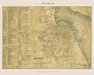 Belfast Village, Maine 1859 Old Town Map Custom Print - Waldo Co.