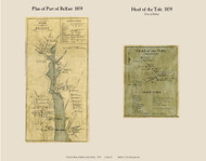 Plan of Part of Belfast & Head of the Tide, Maine 1859 Old Town Map Custom Print - Waldo Co.