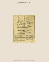 Brooks Village, Maine 1859 Old Town Map Custom Print - Waldo Co.