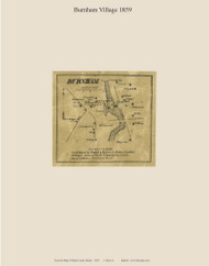 Burnham Village, Maine 1859 Old Town Map Custom Print - Waldo Co.