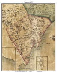 Camden, Maine 1859 Old Town Map Custom Print - Waldo Co.