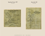 Ingrahams Corner & Rockville - Camden, Maine 1859 Old Town Map Custom Print - Waldo Co.