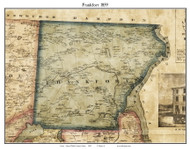 Frankfort, Maine 1859 Old Town Map Custom Print - Waldo Co.