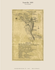 Treatville - Frankfort, Maine 1859 Old Town Map Custom Print - Waldo Co.