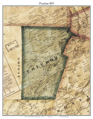 Freedom, Maine 1859 Old Town Map Custom Print - Waldo Co.