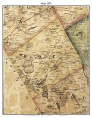 Hope, Maine 1859 Old Town Map Custom Print - Waldo Co.
