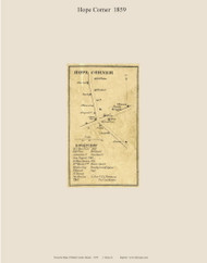 Hope Corner, Maine 1859 Old Town Map Custom Print - Waldo Co.