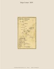 Hope Corner, Maine 1859 Old Town Map Custom Print - Waldo Co.