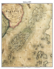 Isleboro, Maine 1859 Old Town Map Custom Print - Waldo Co.