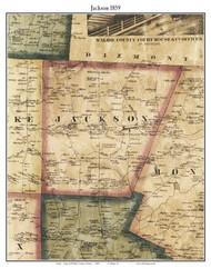 Jackson, Maine 1859 Old Town Map Custom Print - Waldo Co.