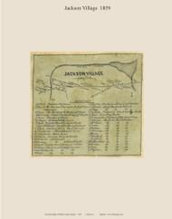 Jackson Village, Maine 1859 Old Town Map Custom Print - Waldo Co.