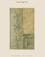 Liberty Village, Maine 1859 Old Town Map Custom Print - Waldo Co.