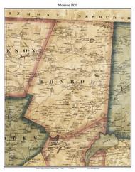Monroe, Maine 1859 Old Town Map Custom Print - Waldo Co.