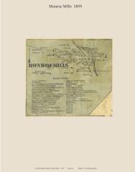 Monroe Mills, Maine 1859 Old Town Map Custom Print - Waldo Co.