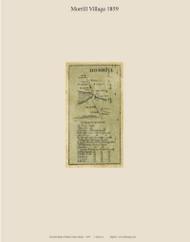 Morrill Village, Maine 1859 Old Town Map Custom Print - Waldo Co.