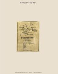 Northport Village, Maine 1859 Old Town Map Custom Print - Waldo Co.