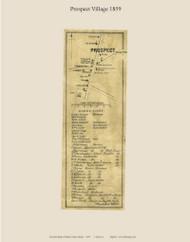 Prospect Village, Maine 1859 Old Town Map Custom Print - Waldo Co.
