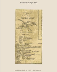 Searsmont Village, Maine 1859 Old Town Map Custom Print - Waldo Co.
