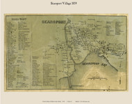 Searsport Village, Maine 1859 Old Town Map Custom Print - Waldo Co.