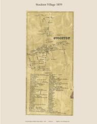 Stockton Village, Maine 1859 Old Town Map Custom Print - Waldo Co.