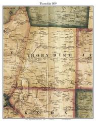 Thorndike, Maine 1859 Old Town Map Custom Print - Waldo Co.