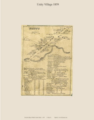 Unity Village, Maine 1859 Old Town Map Custom Print - Waldo Co.