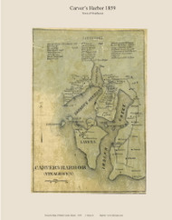 Carver's Harbor - Vinalhaven, Maine 1859 Old Town Map Custom Print - Waldo Co.