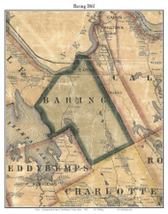 Baring, Maine 1861 Old Town Map Custom Print - Washington Co.