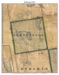 Beddington, Maine 1861 Old Town Map Custom Print - Washington Co.