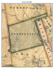 Centreville, Maine 1861 Old Town Map Custom Print - Washington Co.