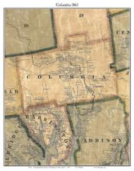 Columbia, Maine 1861 Old Town Map Custom Print - Washington Co.