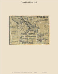 Columbia Village, Maine 1861 Old Town Map Custom Print - Washington Co.