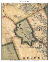 Dennysville, Maine 1861 Old Town Map Custom Print - Washington Co.